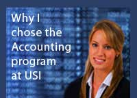 Link to why Ashley Hancock chose the accounting program at USI
