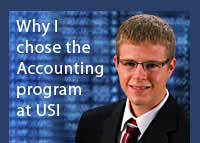Link to why David Ubelhor chose the accounting program at USI
