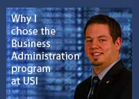 Link to why Jared Ell chose the business administration program at USI