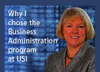 Link to why Donna Harris chose the business administration program at USI