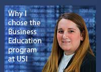 Link to why Kodi Driver chose the business education program at USI