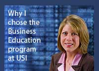 Link to why Jenny Wiggins chose the business education program at USI