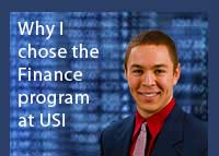 Link to why Michael Patzer chose the finance program at USI