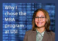 Link to why Tara Ricketts chose the Master of Business Administration program at USI