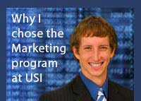 Link to why Tegan Rush chose the marketing program at USI