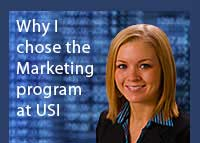 Link to why Amy Westlund chose the marketing program at USI