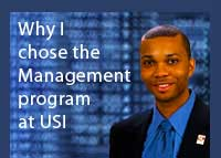 Link to why Kacheyta McClellen chose the management program at USI