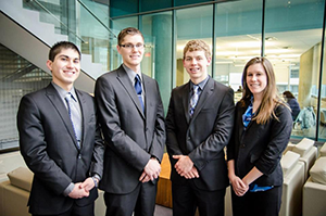Team of students attends business case competition in Montreal, Canada