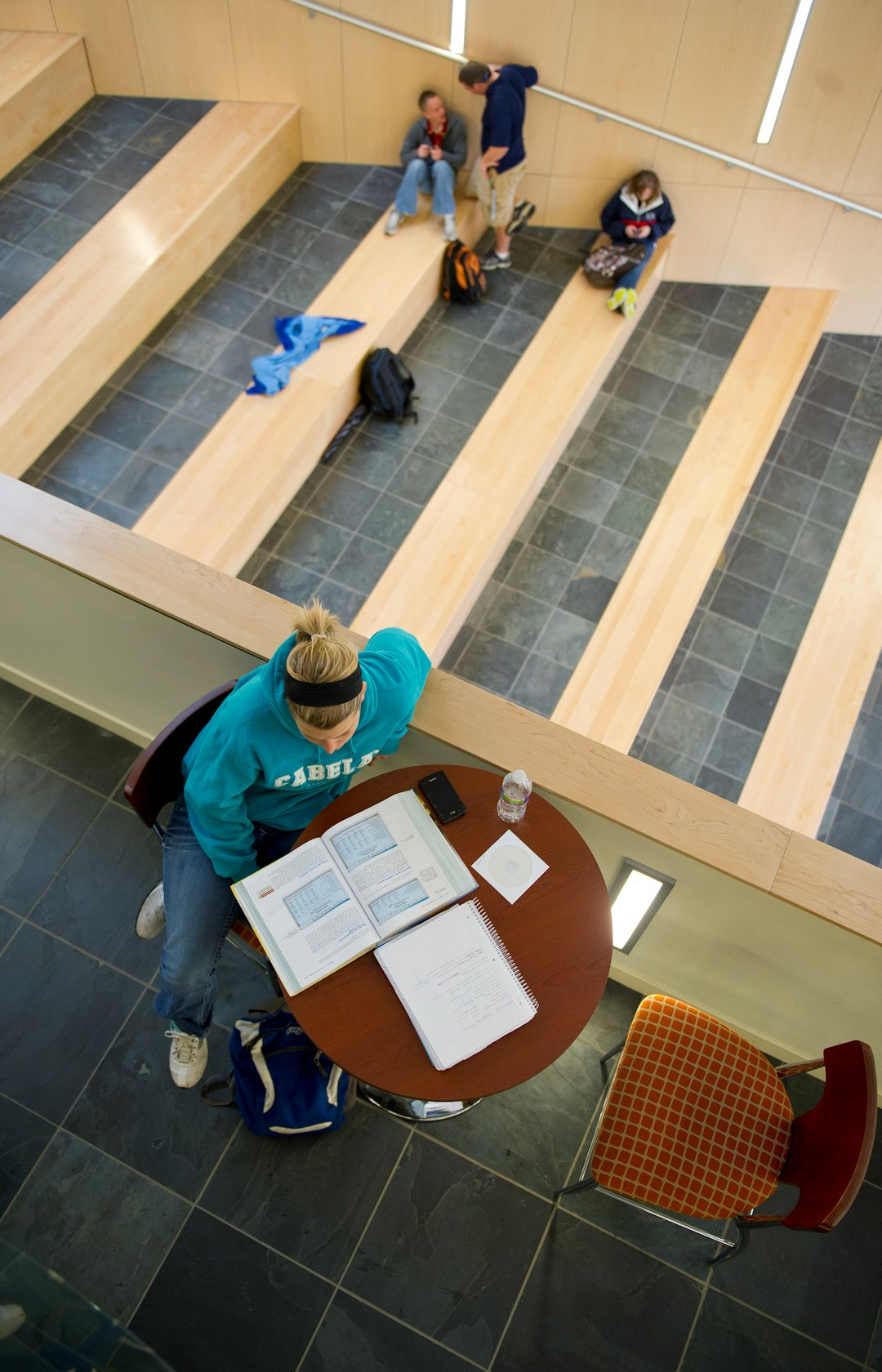 vert students studying in Atrium