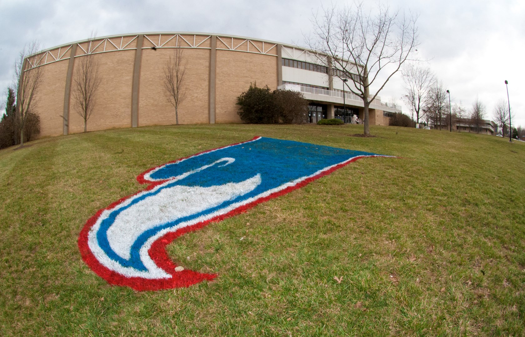 horiz_PAC with Eagle painted on grass