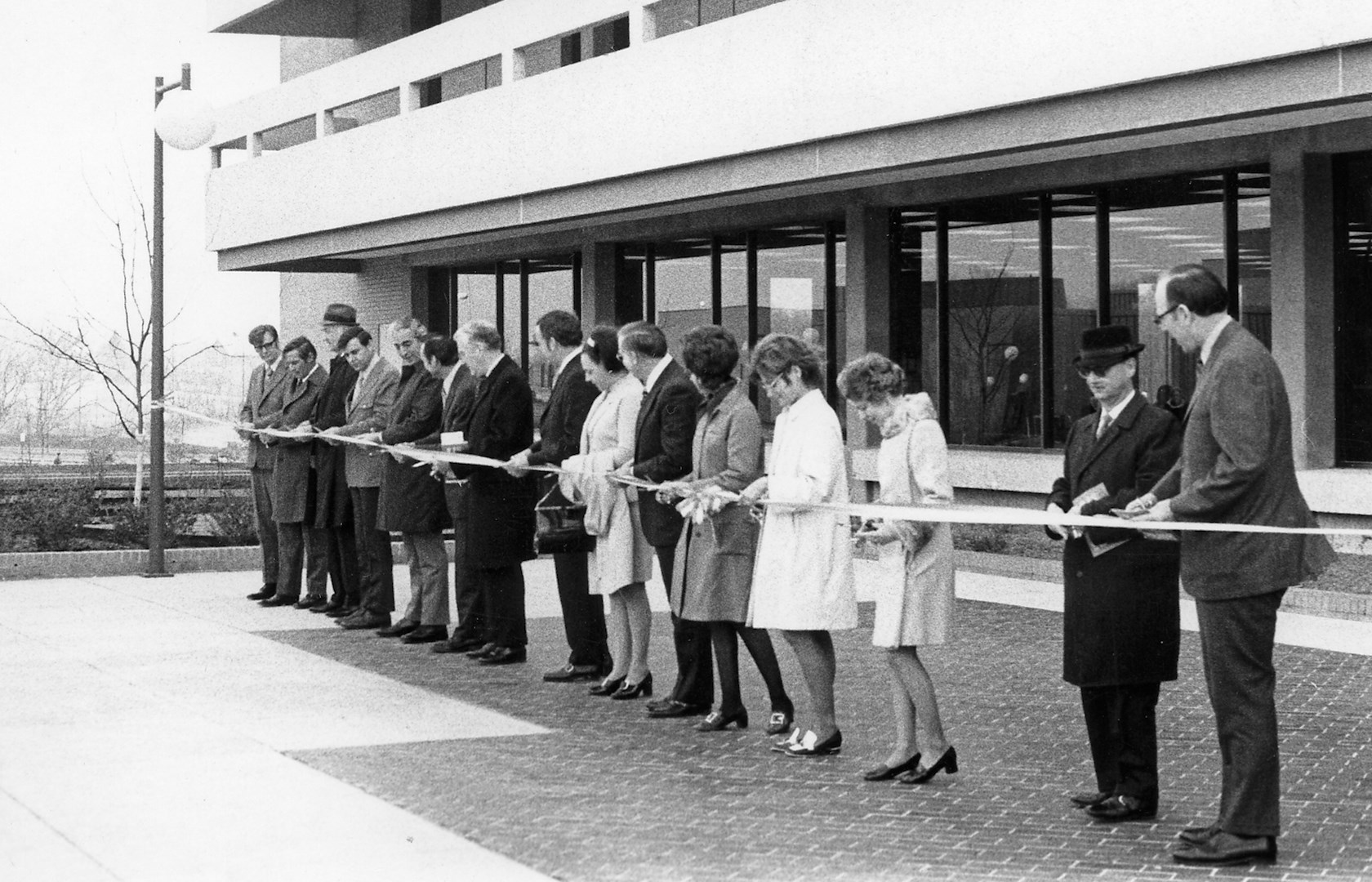 horiz_Rice Library 1971 ribbon cutting