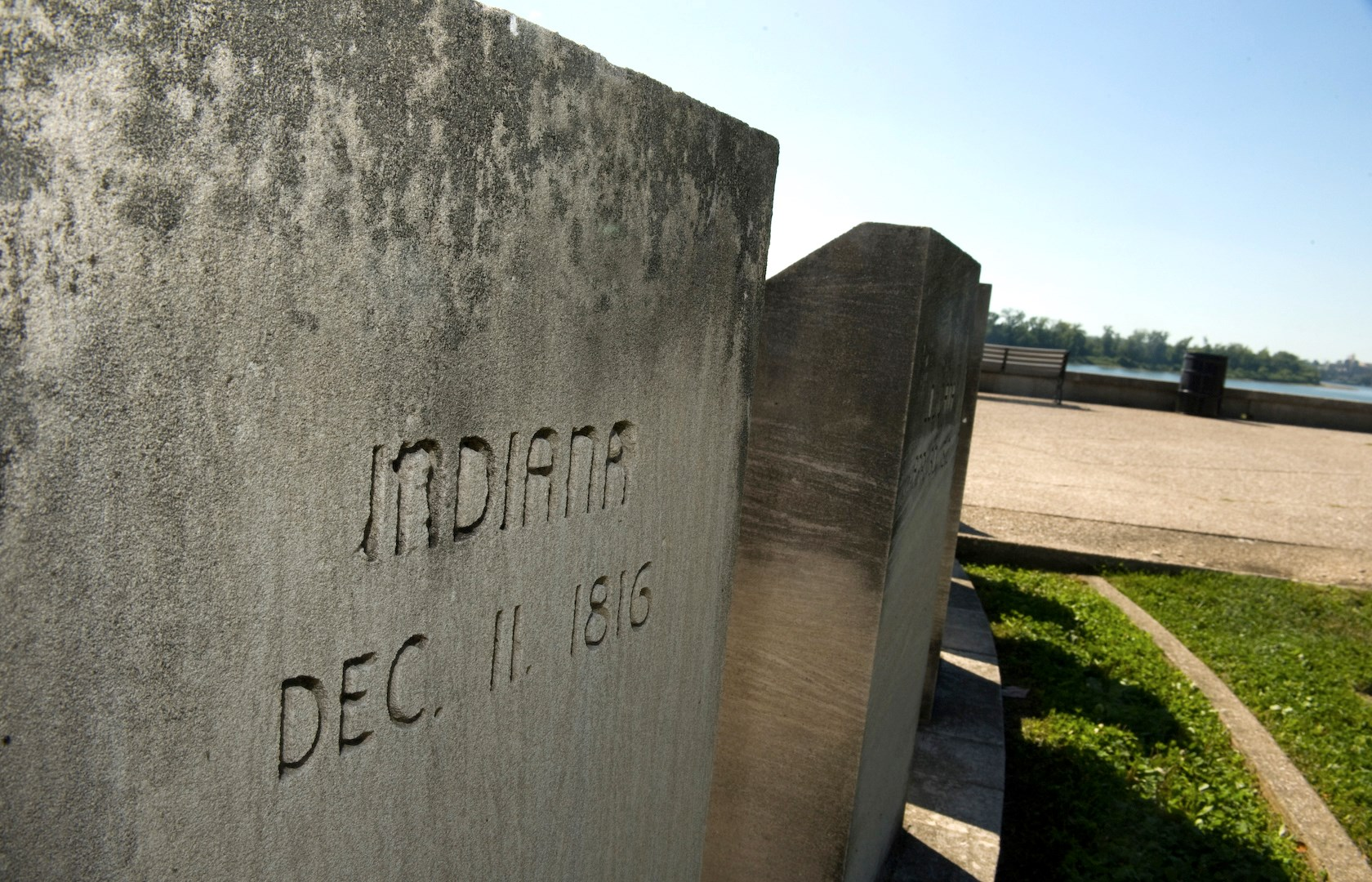 Indiana Marker at Four Freedoms Monument