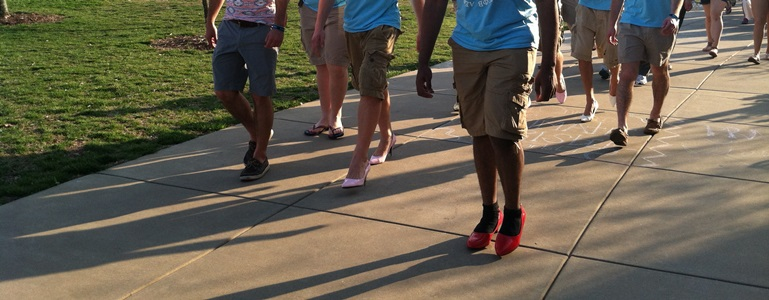 Walk a Mile in Her Shoes wellness event