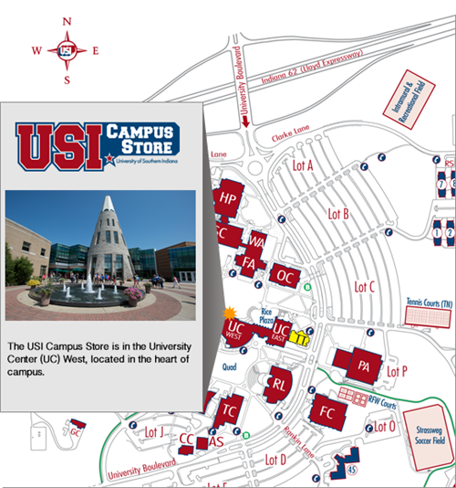 Where is the Campus Store University of Southern Indiana