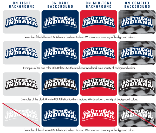 Athletics Backgrounds Southernindianawordmark