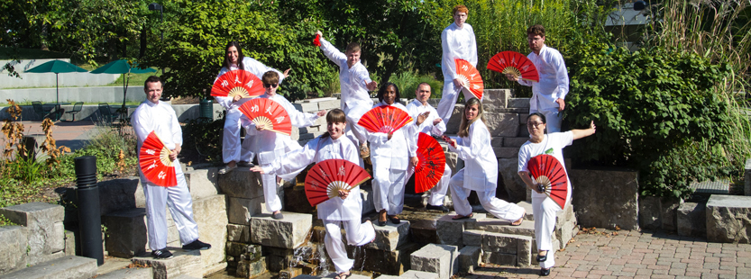 chinese students in chinese attire