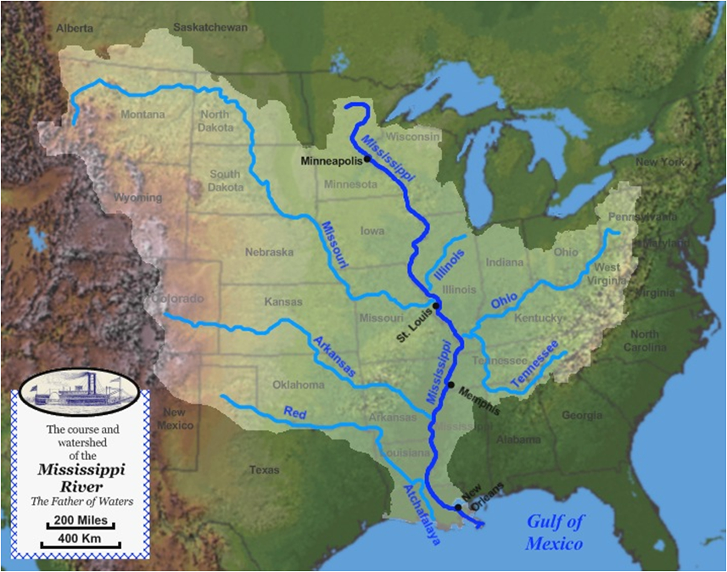 Resources Indianas Historic Pathways - Us river transportation map