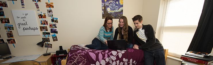 students in residence halls