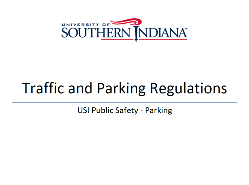 Traffic and Parking Regulations Cover 2014-2015
