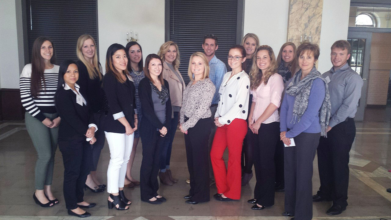 "Public realtions and advertising students attend ""PRSA Day with a Pro"" in Indianapolis, Indiana."