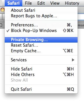 Browser Safari Private