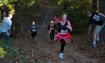 Runners ran for their lives at USI's Brain Drain Zombie 5K.