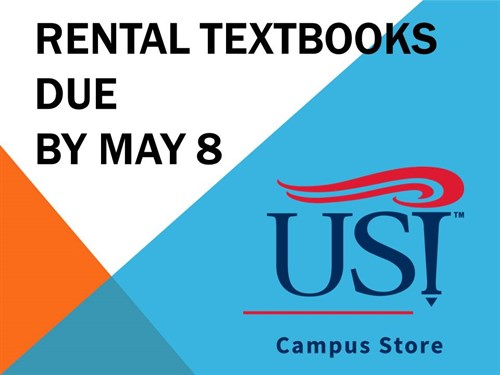 RENTAL TEXTBOOKS DUE BY MAY 8 Revised