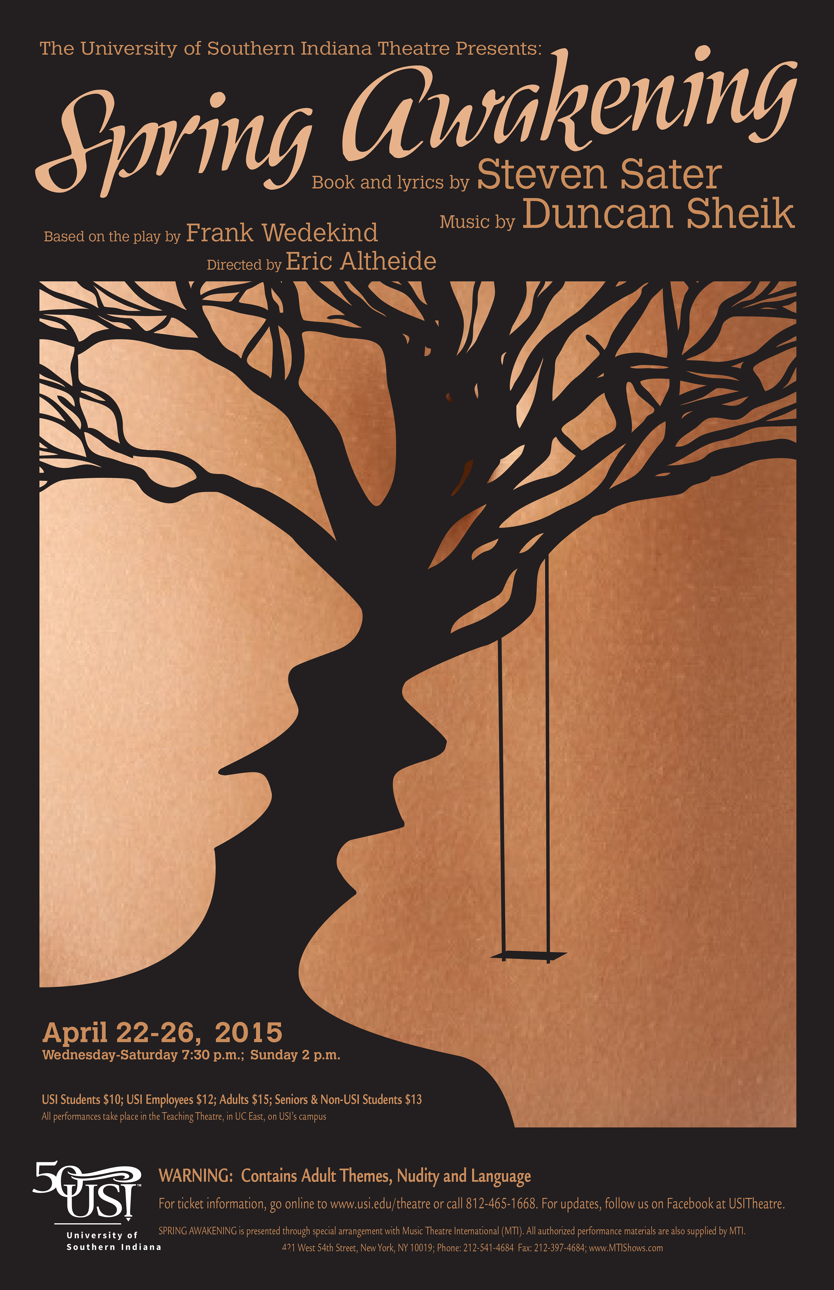 University Of Southern Indiana Theatre Closes 2014 2015 Season With