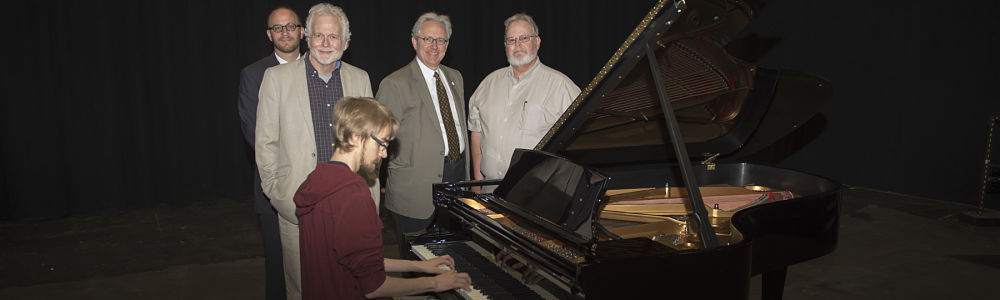 A Beautiful Steinway Piano Delivered to the new USI Performance Center on Tuesday, May 12, 2015
