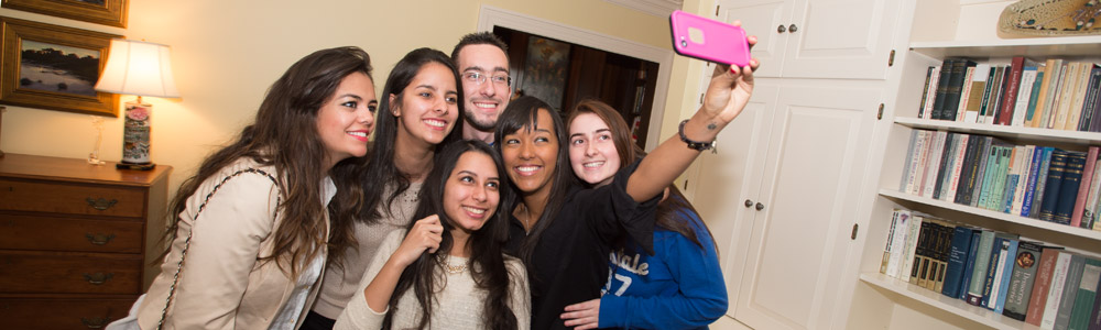 International Students selfie