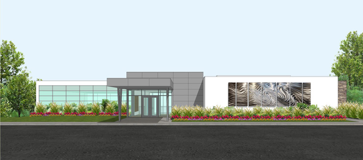 Griffin Center Rendering - West Side