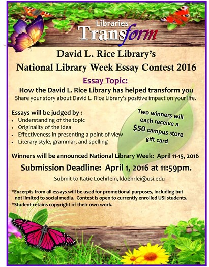 rice university essay contest