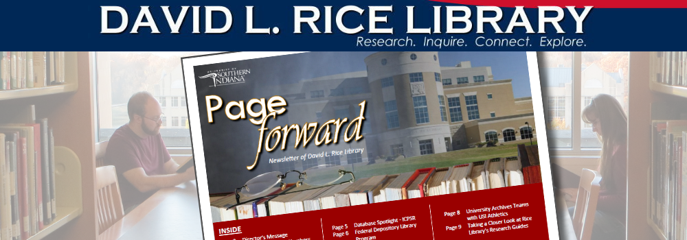 Rice Library's Newsletter - Spring Edition