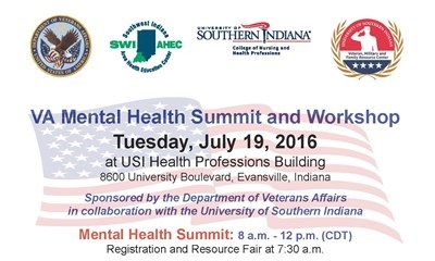 USI, SWI-AHEC and Department of Veterans Affairs collaborate on annual VA Mental Health Summit and Workshop