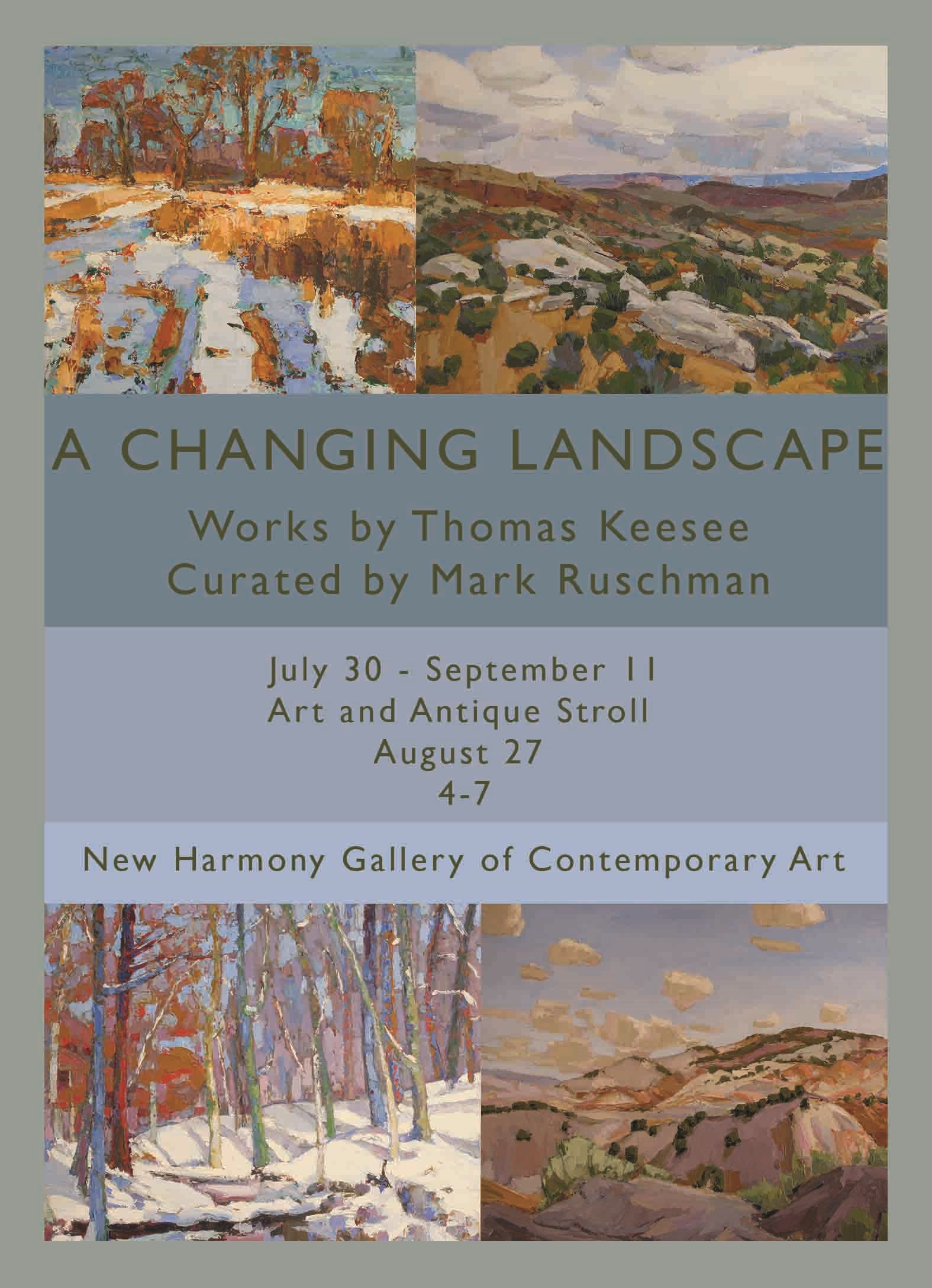 A Changing Landscape, July 30 - Septeber 11