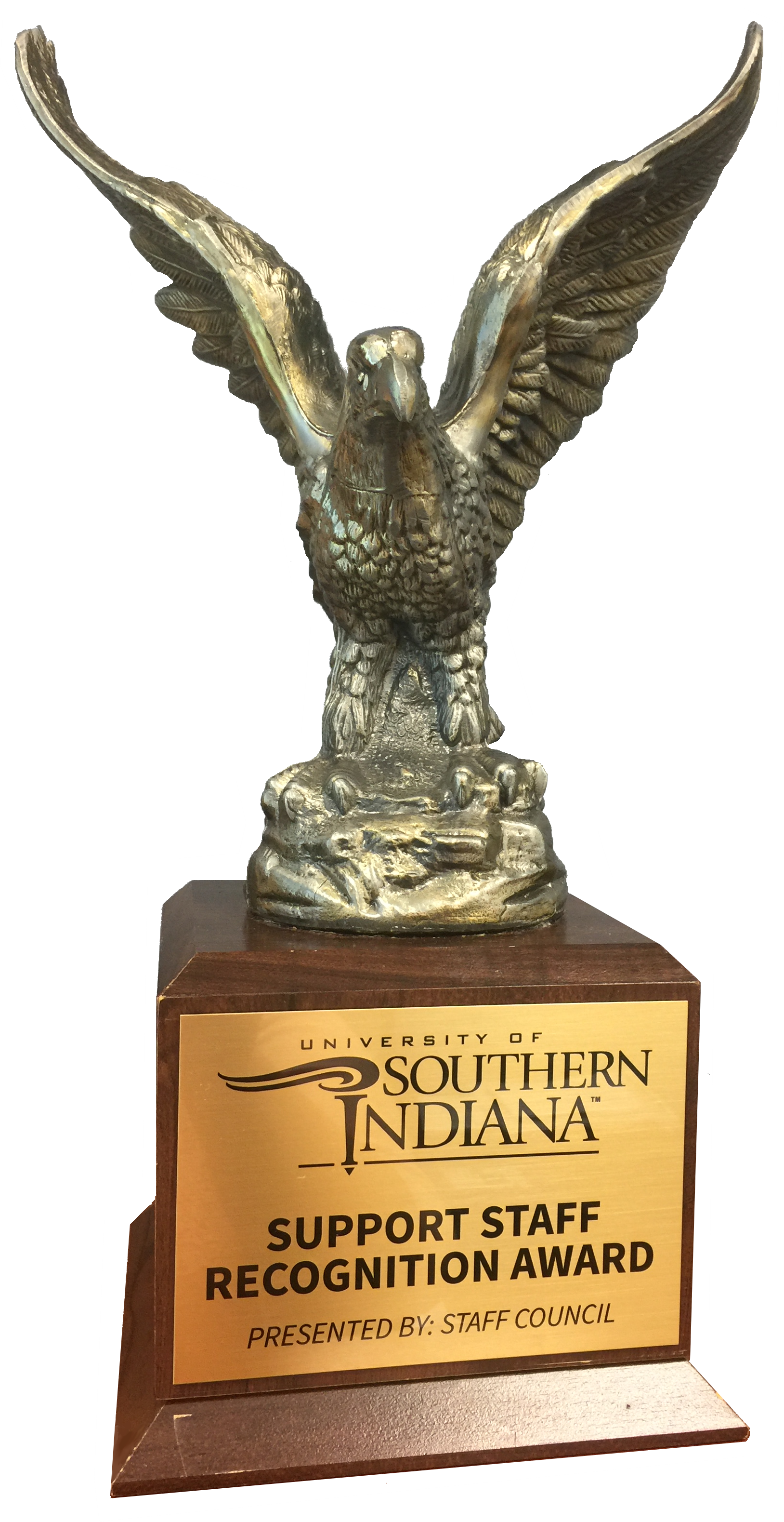 Support Staff Recognition Award trophy