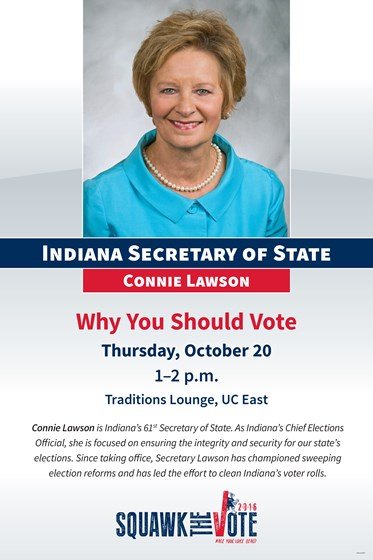 Indiana Secretary Of State To Present Quot Why You Should Vote