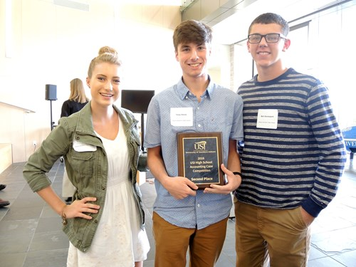 Gibson Southern won second place in the case competition