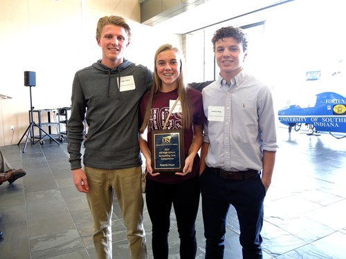 Henderson County received fourth place in the case competition