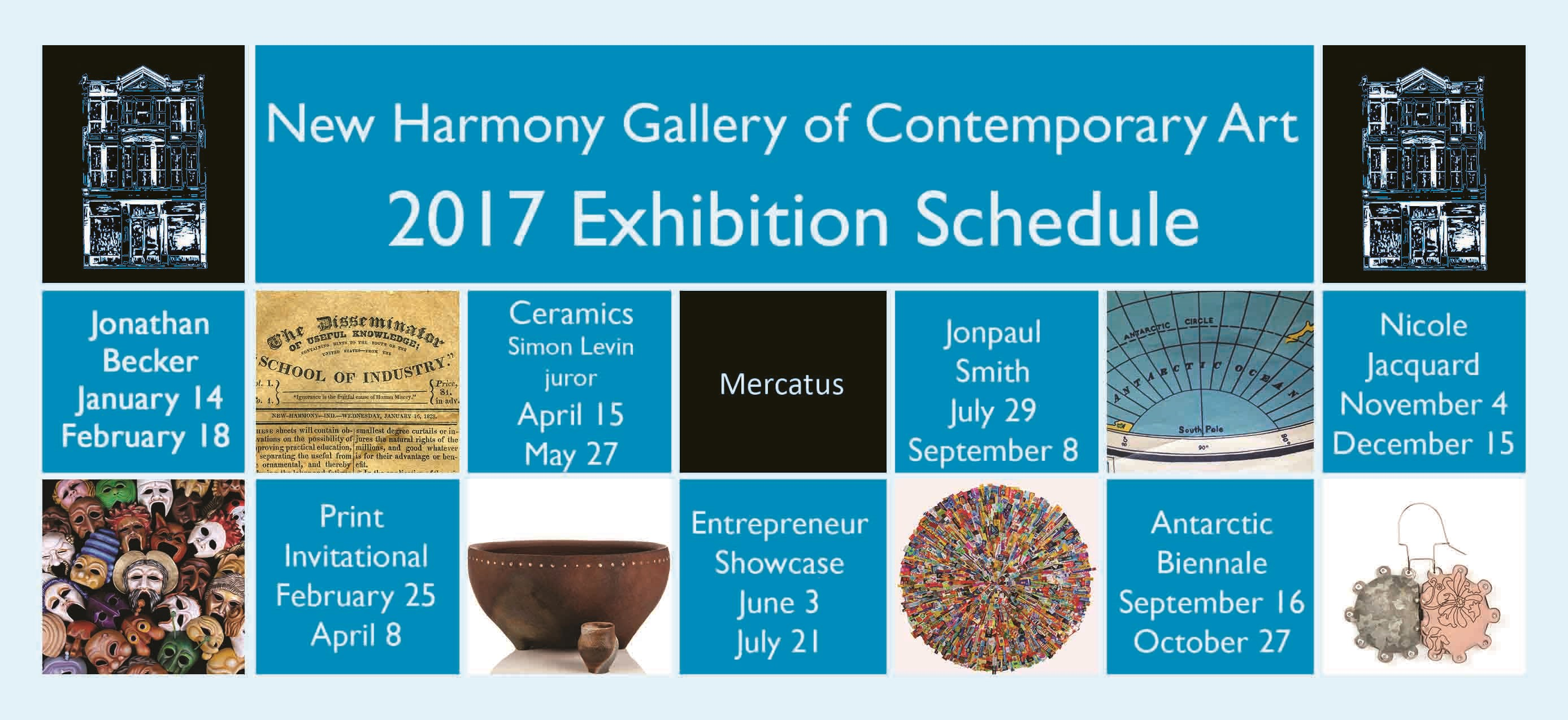 2017 Exhibition Schedule