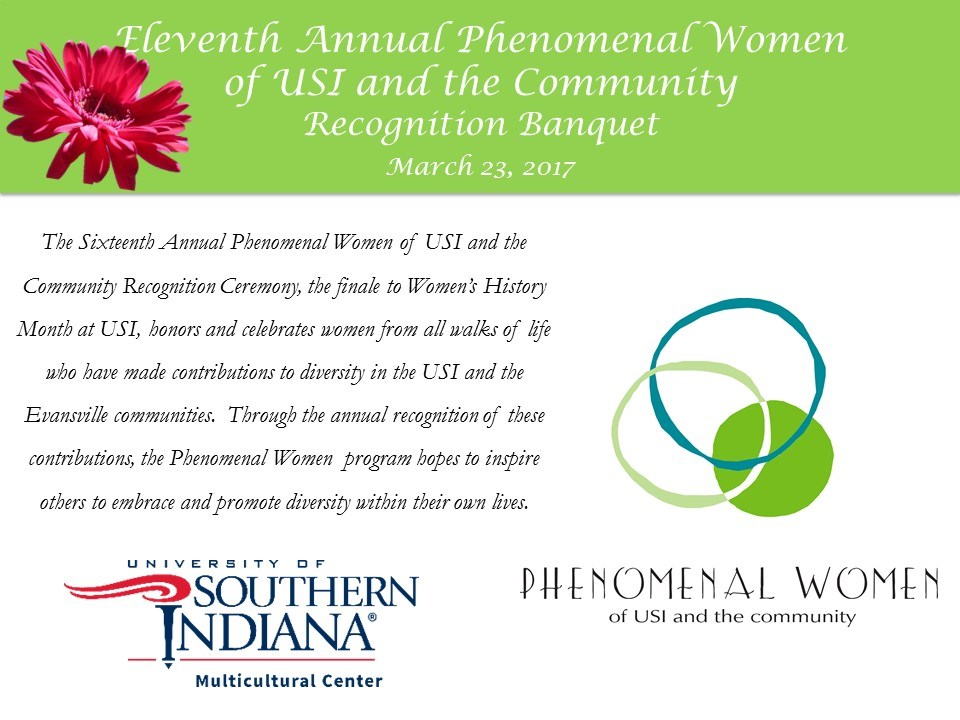 Phenomenal Women Recognition Banquet
