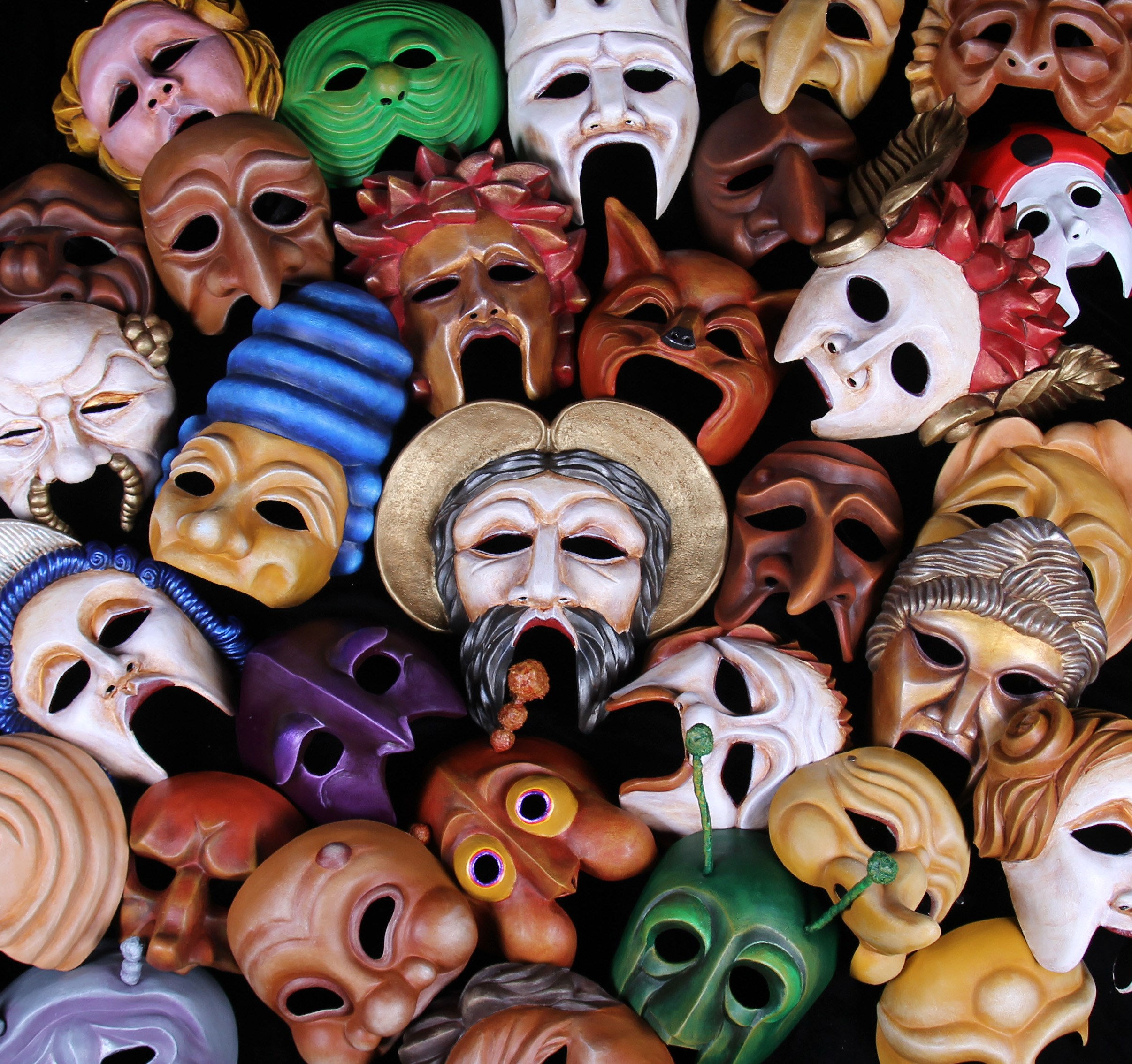 International artist and business owner brings exhibition of theater masks to New Harmony
