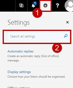 Settings search