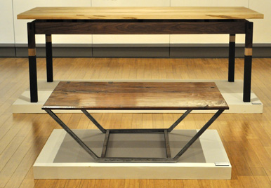 The Immortal Slab by Patrick Bennet & Walnut Table #2 by Christian Smith
