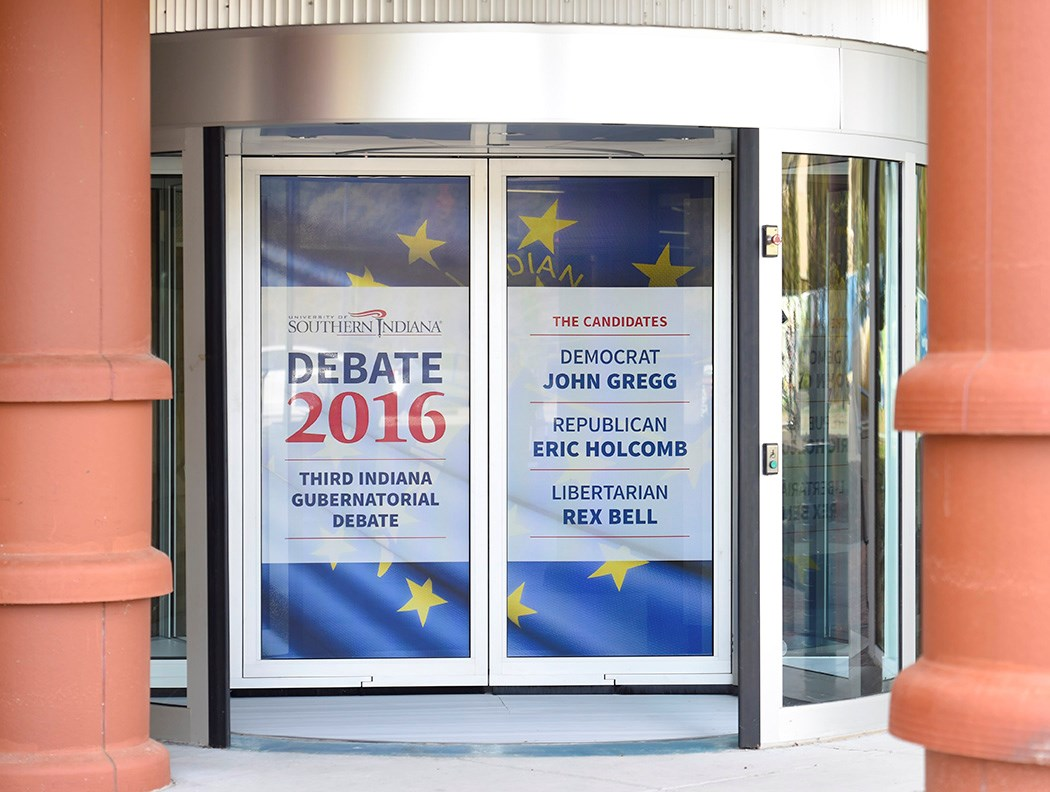 2016 Gubernatorial Debate Door Graphics