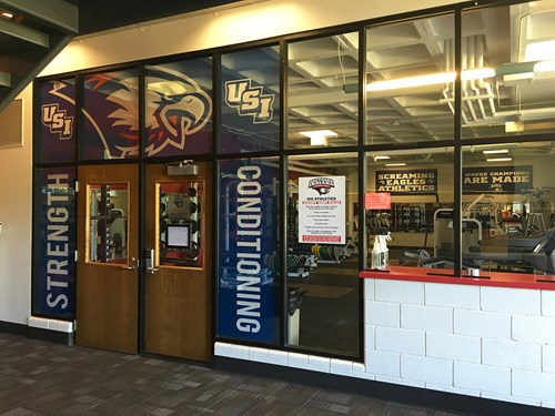 Weight Room Window Graphics
