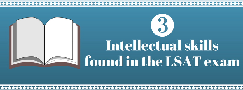 3 Intellectual Skills found in the LSAT exam (graphic)