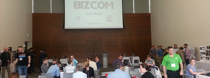 participants at the BIZCOM semi-finals