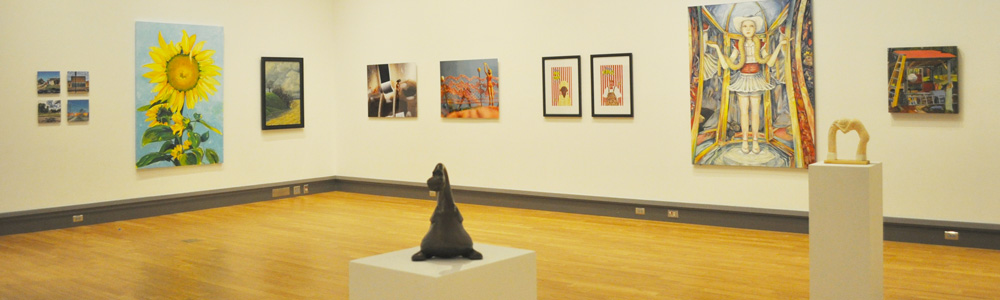100 miles exhibition - gallery view