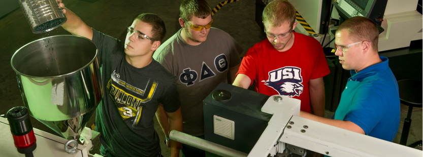 Technicians at the Applied Engineering Center, USI